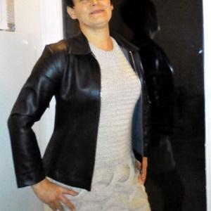 Kézzel kötött beige ruha, Ruha & Divat, Női ruha, Ruha, Kötés, Kézi kötéssel készült a fotón látható ruha. Színe beige, mérete M. Mosógépben mosható, kifordítva, f..., Meska