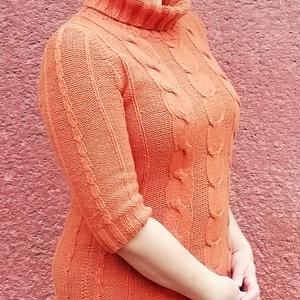 Kézzel kötött ruha, Ruha & Divat, Női ruha, Ruha, Kötés, Terrakotta színben készült a fotón látható ruha, a kedvenc ruhadarabom. Kérésedre elkészítem más szí..., Meska