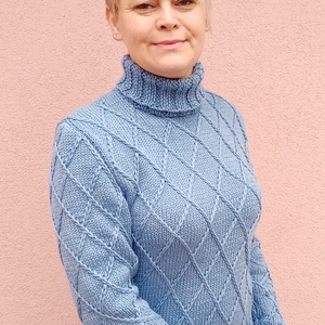 Kézzel kötött unisex gyapjú pulóver  - Meska.hu