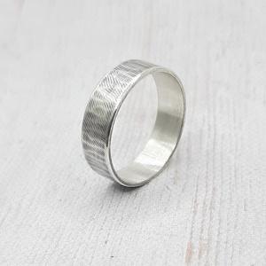 Ezüst karikagyűrű (rusztikus, kalapált) - Meska.hu