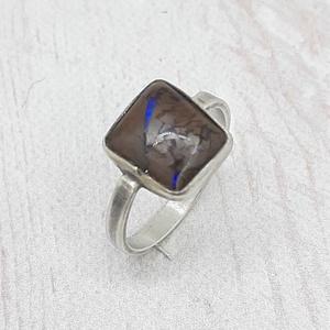 Ausztrál builder opál ezüst gyűrű , Ékszer, Gyűrű, Szoliter gyűrű, Ékszerkészítés, Ötvös, zabálytalan alakú ausztrál builder opált követ foglaltam Sterling ezüstbe. Finoman antikolt.\n\nMéret:..., Meska