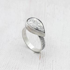 Merlinit ezüst gyűrű , Ékszer, Gyűrű, Szoliter gyűrű, Ékszerkészítés, Ötvös, Meska
