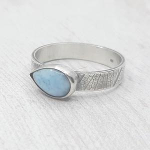 Larimár ezüst gyűrű , Ékszer, Gyűrű, Szoliter gyűrű, Ékszerkészítés, Ötvös, Meska