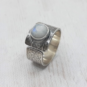 Holdkő ezüst gyűrű  - Meska.hu