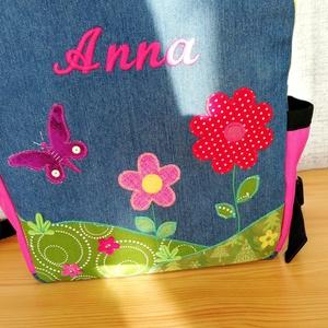 Anna Mesés hátitáskája virág mintával - ovi- és sulikezdés - ovis zsák & ovis szett - ovis hátizsák - Meska.hu
