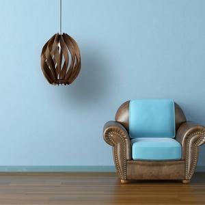 Twist nagyméretű fa lámpa AKCIÓ!, Otthon & Lakás, Lámpa, Fali & Mennyezeti lámpa, Famegmunkálás, Meska