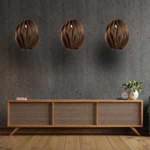 Twist nagyméretű fa lámpa AKCIÓ! - otthon & lakás - lámpa - fali & mennyezeti lámpa - Meska.hu
