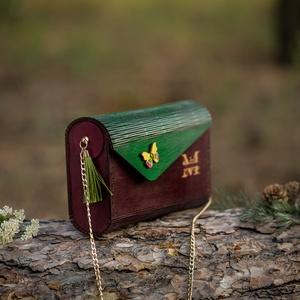Butterfly fa táska / egyedi gravírral is kérhető, Táska & Tok, Kézitáska & válltáska, Kézitáska, Famegmunkálás, Meska