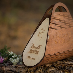 Freesia fa táska / egyedi gravirral is kérhető, Táska & Tok, Kézitáska & válltáska, Kézitáska, Famegmunkálás, Meska