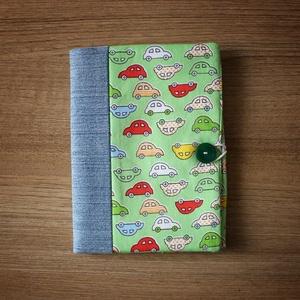 Zöld kisautós egészségügyi kiskönyv, Játék & Gyerek, 3 éves kor alattiaknak, Varrás, Meska