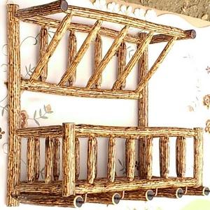 Fali ágbútor, Dekoráció, Otthon & lakás, Lakberendezés, Tárolóeszköz, Bútor, Famegmunkálás, Mindenmás, Mogyorófából készült falra akasztható egyedi tároló. A felső része levél, illetve iratok tárolására ..., Meska