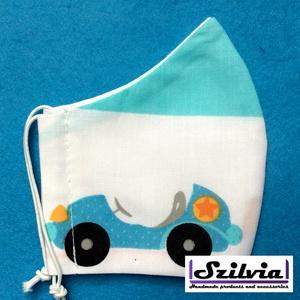 Gyerek kis autó mintás - Egyedi többször használatos szájmaszk - Mosható maszk, Táska, Divat & Szépség, Szépség(ápolás), Maszk, szájmaszk, Gyerek & játék, Baba-mama kellék, Varrás, Egyedi  mintás gyerek szájmaszk. A szabása miatt jól illeszkedik az archoz kényelmes viselet.\nTermés..., Meska
