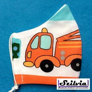 Gyerek autó mintás - Egyedi többször használatos szájmaszk - Mosható maszk, Táska, Divat & Szépség, Szépség(ápolás), Maszk, szájmaszk, Gyerek & játék, Baba-mama kellék, Varrás, Egyedi  mintás gyerek szájmaszk. A szabása miatt jól illeszkedik az archoz kényelmes viselet.\nTermés..., Meska