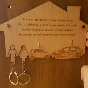 Ház formájú akasztós kulcstartó (KreativLily) - Meska.hu