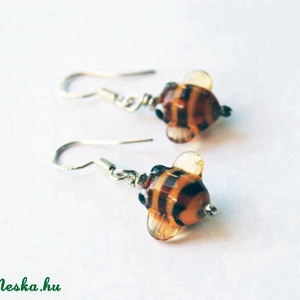 ZÜMI TESÓK, lámpagyöngy méhecske fülbevaló (kreativmano) - Meska.hu