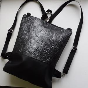 Különleges mintás hátizsák és válltáska, Táska, Divat & Szépség, Táska, Hátizsák, Válltáska, oldaltáska, Laptoptáska, Varrás, Különleges mintás táska. A külseje műbőr anyagokból készült. A belseje fekete vászonból készült, egy..., Meska