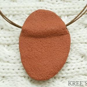 Zöld-barna spirálos ékszergyurma nyaklánc  (KREES) - Meska.hu