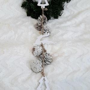 Karácsonyi kopogtató, Karácsony & Mikulás, Karácsonyi kopogtató, Festett tárgyak, Famegmunkálás, Ünnep közeleg... Ha Te is szereted már az otthonod bejáratánál kezdeni a karácsonyi dekorálást, akko..., Meska