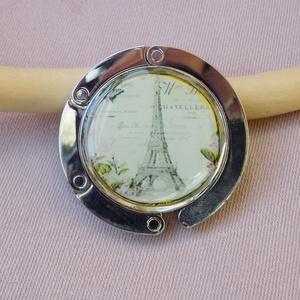 Eiffel torony - Táska akasztó , Táskaakasztó, Kulcstartó & Táskadísz, Táska & Tok, Ékszerkészítés, Egy igazán praktikus kis holmi, hogy ne kelljen a földre tenni a táskádat, ha elmész valahová., Meska