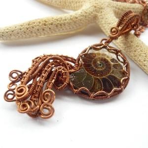 Ammonitesz - réz nyaklánc (kricsar) - Meska.hu