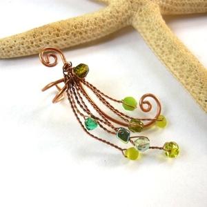 Fülgyűrű zöldben (kricsar) - Meska.hu
