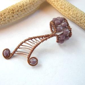 Lila - réz fülgyűrű (kricsar) - Meska.hu