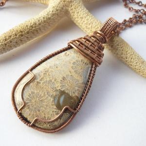 Korall fosszília - réz nyaklánc (kricsar) - Meska.hu