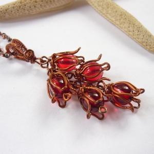 Piros tulipánok - réz nyaklánc (kricsar) - Meska.hu