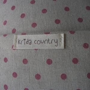 Country dots (natúr-rózsa) - vidéki romantika párnahuzat (kridacountry) - Meska.hu