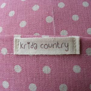 Country dots (rózsa-natúr) - vidéki romantika párnahuzat (kridacountry) - Meska.hu
