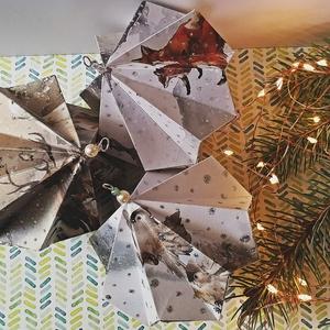 Állatkák karácsonyi dísz, Otthon & Lakás, Karácsony & Mikulás, Karácsonyfadísz, Papírművészet, Nagyon elfogott a karácsonyi hangulat, kissé korán, de remélem nektek is hozok egy kis előkarácsonyi..., Meska