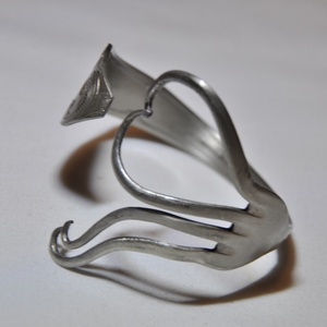 'Lovely Heart' - egyedi szív alakú villa karkötő (KK008) - ékszer - karkötő - karperec - Meska.hu