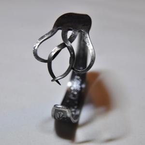 'Gloomy Wave' - különleges sötétített villa karperec (KK004), Ékszer, Fonódó gyűrű, Gyűrű, Ékszerkészítés, Fémmegmunkálás, Meska