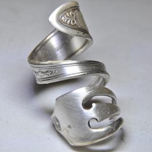 Antik, esüztözött gyűrű hüvelykujjra (GY054), Ékszer, Kerek gyűrű, Gyűrű, Ékszerkészítés, Fémmegmunkálás, Meska
