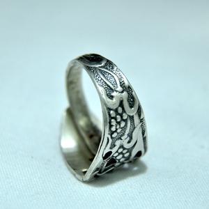 Tört és mintás fémgyűrű (GY230) - Meska.hu