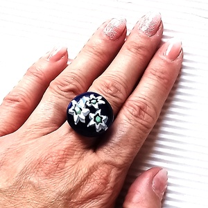 Ékszerüvegből készült gyűrű - ékszer - gyűrű - szoliter gyűrű - Meska.hu