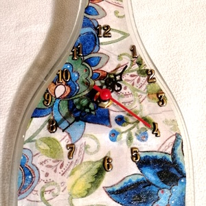 Falióra olvasztott üvegpalackból, Otthon & Lakás, Dekoráció, Falióra & óra, Üvegművészet, Meska