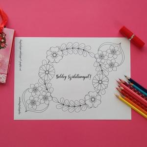 Virágok és álmok színező (Krisztadesign) - Meska.hu