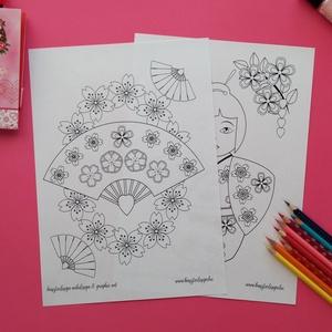 Kelet kincsei színező (Krisztadesign) - Meska.hu