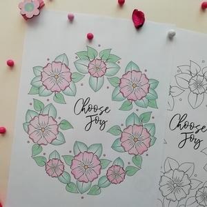 Tavaszi színező pöttyökkel (Krisztadesign) - Meska.hu