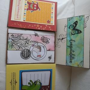 Üdvözlőlap gyerekeknek - 4 db képeslap egy csomagban, Képeslap & Levélpapír, Papír írószer, Otthon & Lakás, Papírművészet, 4 db, 10,5*15 cm egyedi, saját készítésű kézműves képeslap, 4 db borítékkal.\nA kihajtható képeslapok..., Meska