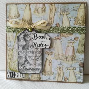 Break the Rules - 1 db képeslap, Karácsonyi képeslap, Karácsony & Mikulás, Otthon & Lakás, Papírművészet, 1 db, 15*15 cm egyedi, saját készítésű kézműves képeslap, 1 db borítékkal.\nA kihajtható képeslapra b..., Meska
