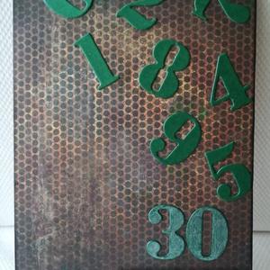 30. SZÜLETÉSNAP - 1 db képeslap: Happy birthday felirattal, Képeslap & Levélpapír, Papír írószer, Otthon & Lakás, Papírművészet, 1 db 10,5*15 cm, egyedi, saját készítésű kézműves képeslap, 1 db borítékkal.\nA kihajtható képeslapra..., Meska
