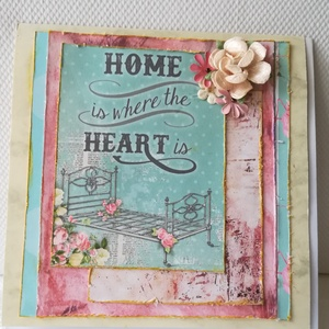 HOME IS WHERE THE HEART IS- 1 db képeslap (KrisztaLAP) - Meska.hu