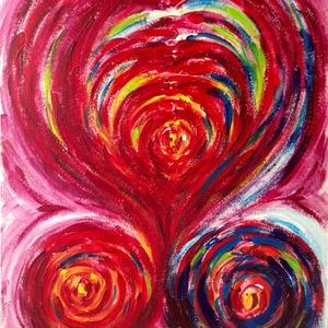 """""""Összeolvadás""""- festmény, Művészet, Akril, Festmény, 27x34  cm-es akril festmény  Eredeti, egyedi festmény, adott pillanat érzelmeit fejezi ki.  Másolat,..., Meska"""