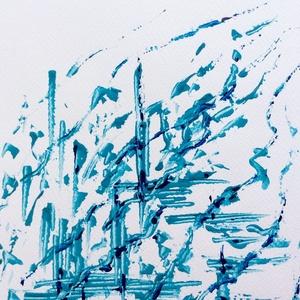 Esőcseppek- festmény - művészet - festmény - akril - Meska.hu