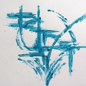 Víz-sugár - festmény, Művészet, Akril, Festmény, Festészet, Meska