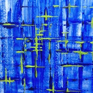 Kék ég alatt - festmény - Meska.hu