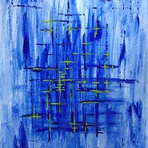 Kék ég alatt - festmény, Művészet, Akril, Festmény, Festészet, Meska