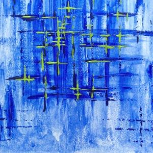 Kék ég alatt - festmény (Krisztikmarti) - Meska.hu